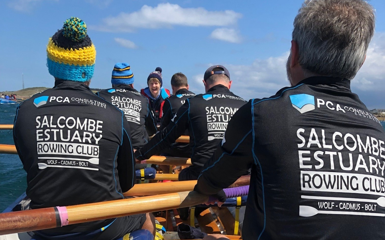 PCA sponsored Salcombe's B crew at the World Gig Championships 2019