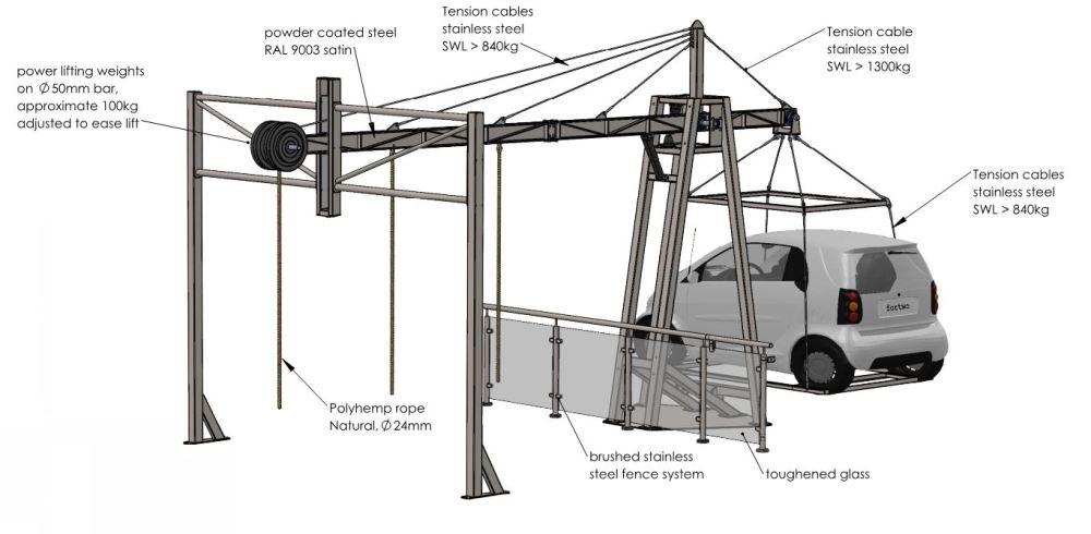 Lamda crane exhibit