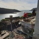 Salcombe extension piling