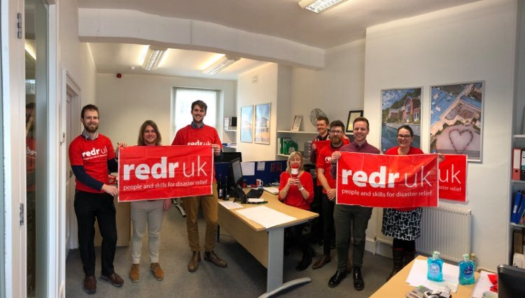 Staff at PCA Wear Red for RedR UK day