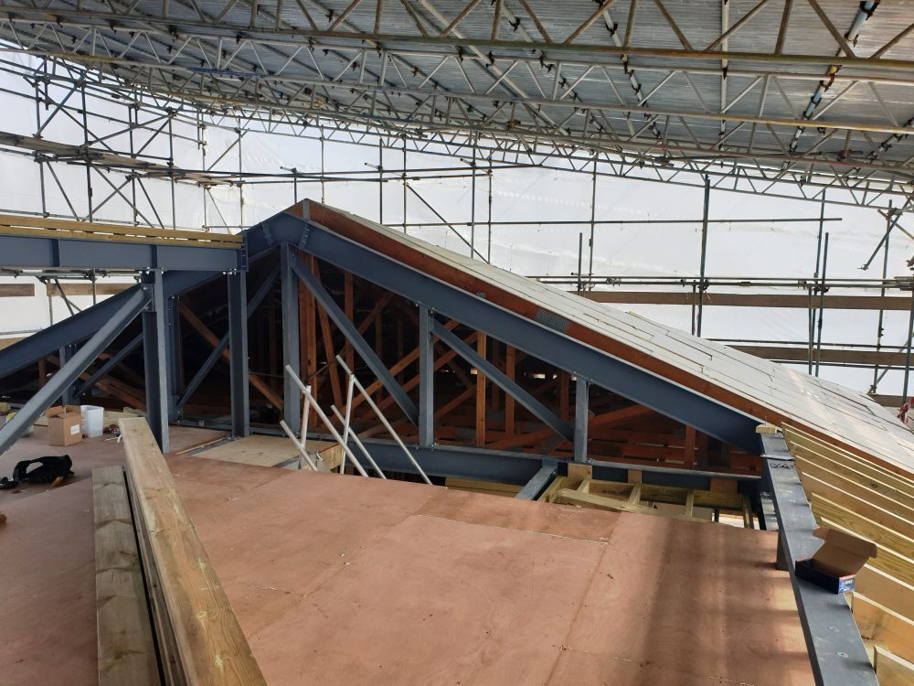 Roof terrace structure